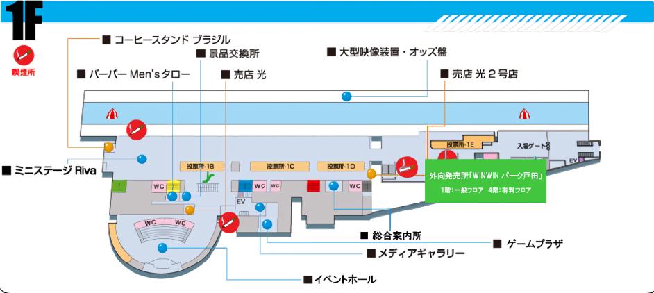 ボートレース戸田 1F