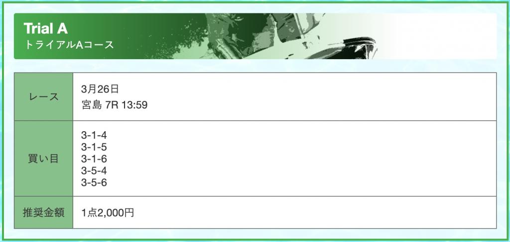 フルスロットル2021年3月26日の有料予想買い目