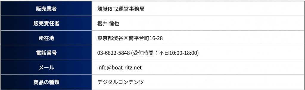 競艇リッツの運営情報