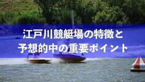 江戸川競艇場の予想的中ポイントとは?